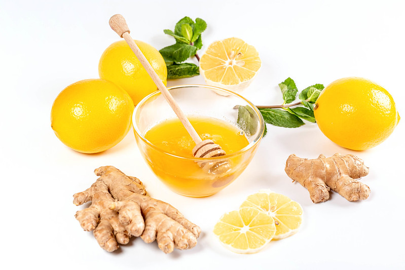 Photo Credit https://foto.wuestenigel.com/natural-medicine-concept-ginger-honey-lemon-and-mint/ https://creativecommons.org/licenses/by/2.0/